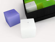 Illustrazione della candela 3D illustrazione di stock