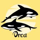illustrazione della carta da parati di progettazione del mare dell'orca Fotografie Stock Libere da Diritti