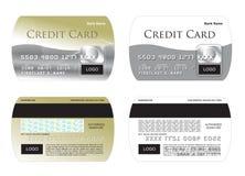 Illustrazione della carta di credito Fotografia Stock