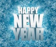 illustrazione della carta di inverno del fiocco di neve del buon anno Immagini Stock Libere da Diritti