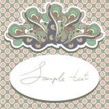Illustrazione della cartolina d'auguri di buon compleanno Fotografia Stock Libera da Diritti
