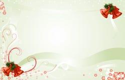 Illustrazione della cartolina di Natale con stanza per testo Fotografia Stock