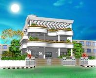 illustrazione della casa 3D Fotografie Stock Libere da Diritti