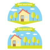 Illustrazione della casa di vettore Casa dolce domestica Fotografia Stock Libera da Diritti