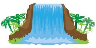 Illustrazione della cascata illustrazione vettoriale