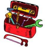 Illustrazione della cassetta portautensili Immagini Stock Libere da Diritti