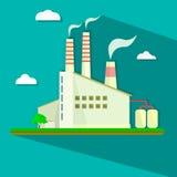 Illustrazione della centrale elettrica industriale in piano Fotografia Stock Libera da Diritti