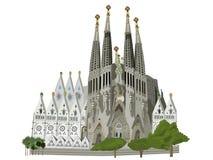 Illustrazione della chiesa di Sagrada Familia Fotografia Stock