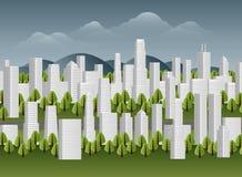Illustrazione della città Illustrazione di Stock