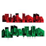 Illustrazione della città Fotografia Stock