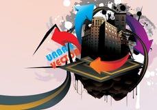 Illustrazione della città del fumetto Fotografia Stock Libera da Diritti
