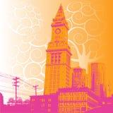 Illustrazione della città di Grunge Immagine Stock Libera da Diritti