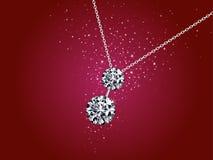 Illustrazione della collana di diamante Fotografia Stock Libera da Diritti