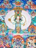 Illustrazione della coltura tradizionale del Tibet Fotografie Stock Libere da Diritti