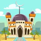 Illustrazione della costruzione della moschea del fumetto di vettore illustrazione di stock