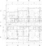 Illustrazione della costruzione di appartamento Immagini Stock Libere da Diritti