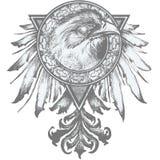Illustrazione della cresta dell'aquila Immagine Stock Libera da Diritti
