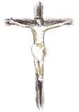 Gesù ha crocifitto Fotografia Stock Libera da Diritti