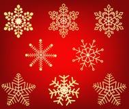 Illustrazione della decorazione di disegno di vettore dei fiocchi di neve Fotografia Stock Libera da Diritti