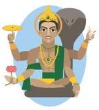 Illustrazione della divinità di Vishnu illustrazione vettoriale