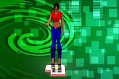 illustrazione della donna 3d Immagine Stock