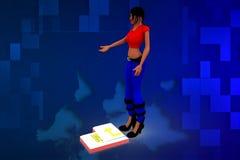 illustrazione della donna 3d Immagini Stock