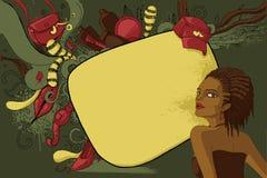 Donna di colore Fotografia Stock