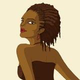Donna di colore Fotografie Stock Libere da Diritti