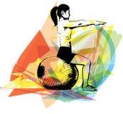 Illustrazione della donna di yoga illustrazione vettoriale