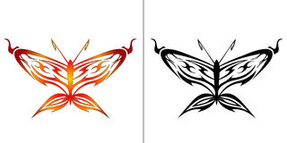 Illustrazione della farfalla Fotografie Stock Libere da Diritti