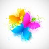 Farfalla Grungy Immagini Stock