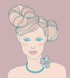Illustrazione della femmina Fotografia Stock