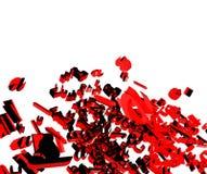 illustrazione della fonte tipografica 3d Fotografia Stock