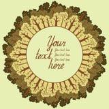 Illustrazione della foresta di conifere con un posto per il vostro testo. Fotografie Stock Libere da Diritti