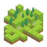 Illustrazione della foresta isometrica royalty illustrazione gratis