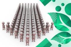 illustrazione della freccia del gruppo degli uomini 3d Immagine Stock