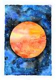 Illustrazione della galassia dell'acquerello Il pianeta guasta royalty illustrazione gratis