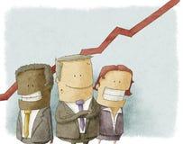 Illustrazione della gente di affari Fotografie Stock