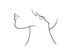 Illustrazione della gola umana Fotografie Stock Libere da Diritti