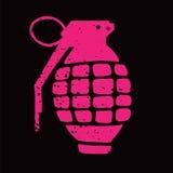 Illustrazione della granata a mano Fotografie Stock