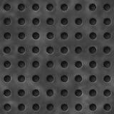 Illustrazione della griglia del ferro con i fori circolari Fotografia Stock Libera da Diritti