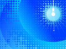 Illustrazione della lampada - azzurro Fotografia Stock Libera da Diritti