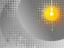 Illustrazione della lampada - grey Fotografie Stock Libere da Diritti