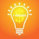 Illustrazione della lampadina - concetto di idea Immagini Stock