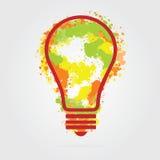 Illustrazione della lampadina - concetto di idea Immagine Stock Libera da Diritti