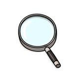 Illustrazione della lente d'ingrandimento Fotografia Stock