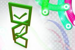 illustrazione della lista di controllo 3d Fotografie Stock