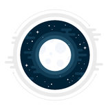 Illustrazione della luna Fotografie Stock