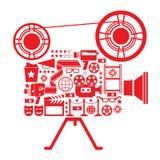 Illustrazione della macchina fotografica di contaminazione Immagini Stock Libere da Diritti