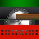 Illustrazione della macchina per la lavorazione del legno Fotografia Stock Libera da Diritti